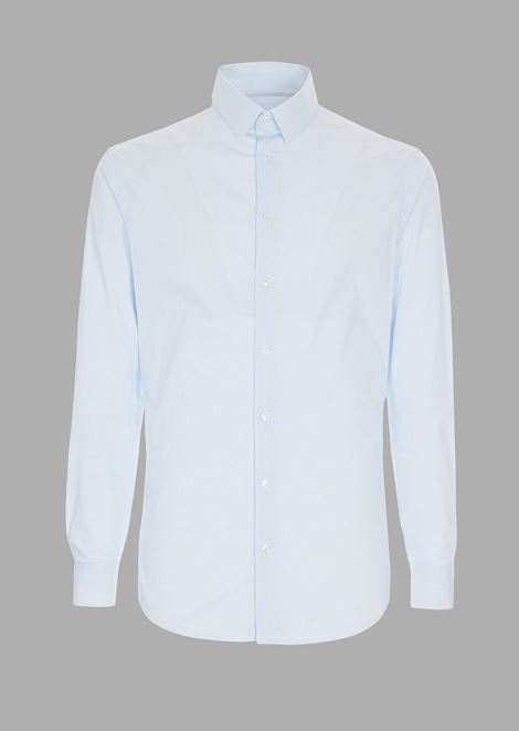 Slim-fit shirt in striped fil-a-fil fabric