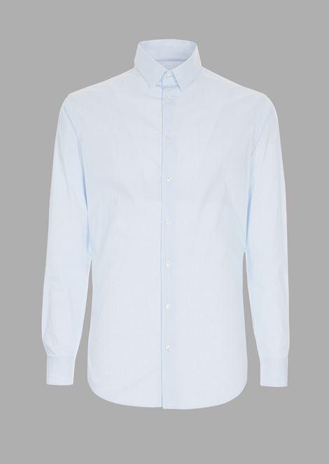 Slim-fit shirt in striped fil-à-fil fabric