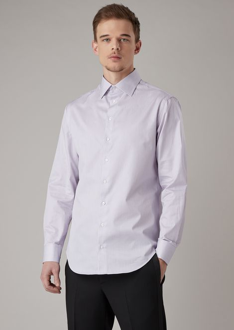 Regular-fit shirt in striped fabric
