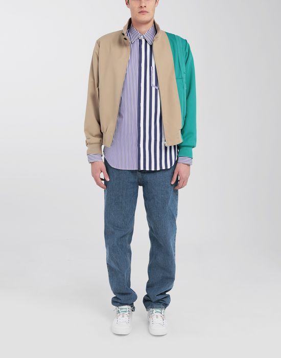 MAISON MARGIELA Asymmetric Décortiqué pocket striped shirt Long sleeve shirt [*** pickupInStoreShippingNotGuaranteed_info ***] d