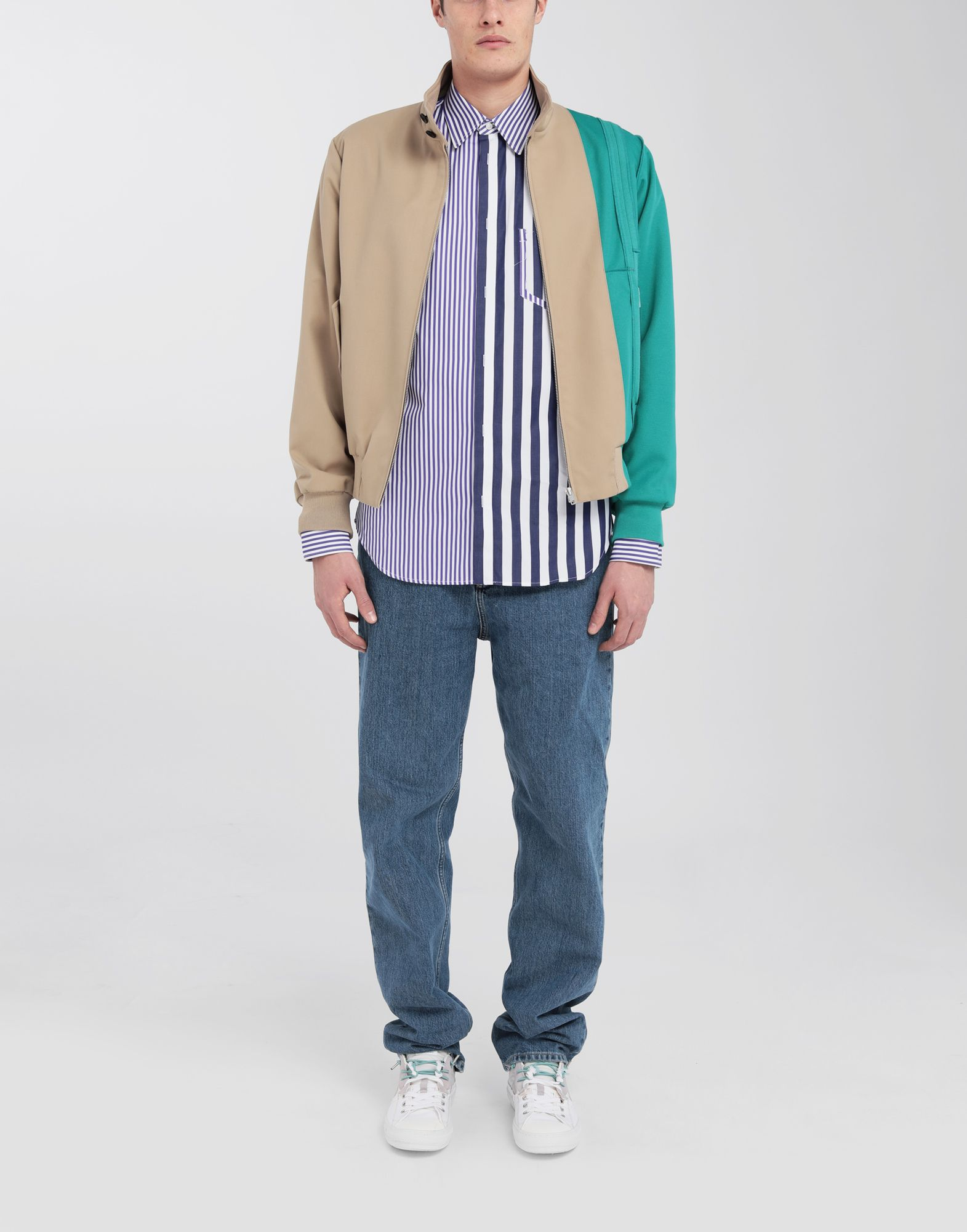 MAISON MARGIELA Asymmetric Décortiqué pocket striped shirt Long sleeve shirt Man d