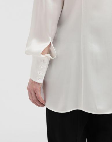 SHIRTS Double Layer lace satin shirt