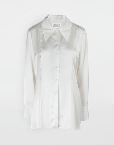 486881eefbb3ec Maison Margiela Double Layer Lace Satin Shirt Women | Maison Margiela Store