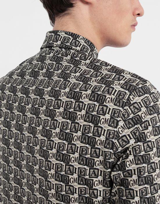 MAISON MARGIELA Cube logo printed shirt Long sleeve shirt [*** pickupInStoreShippingNotGuaranteed_info ***] b