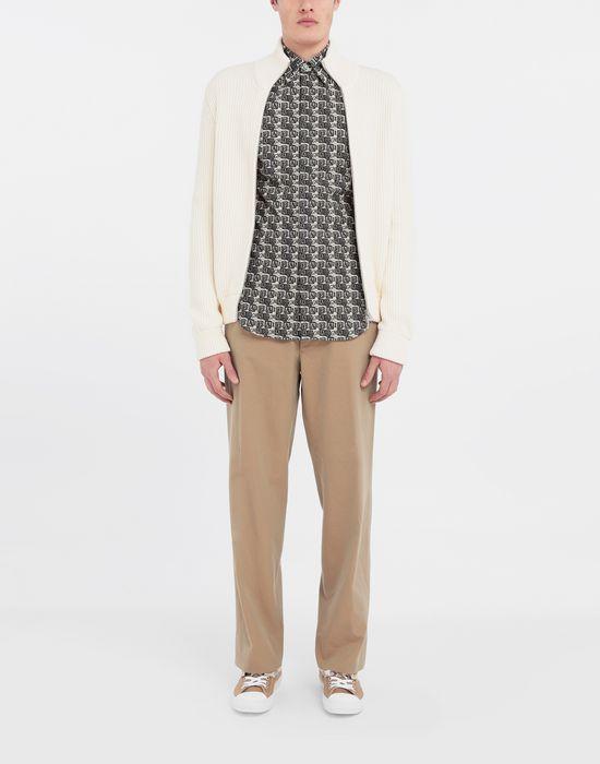 MAISON MARGIELA Cube logo printed shirt Long sleeve shirt [*** pickupInStoreShippingNotGuaranteed_info ***] d