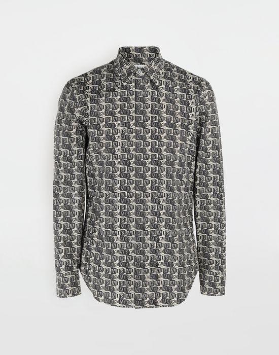 MAISON MARGIELA Cube logo printed shirt Long sleeve shirt [*** pickupInStoreShippingNotGuaranteed_info ***] f