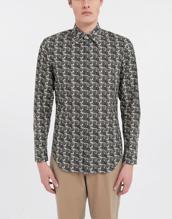 MAISON MARGIELA Cube logo printed shirt Long sleeve shirt [*** pickupInStoreShippingNotGuaranteed_info ***] r