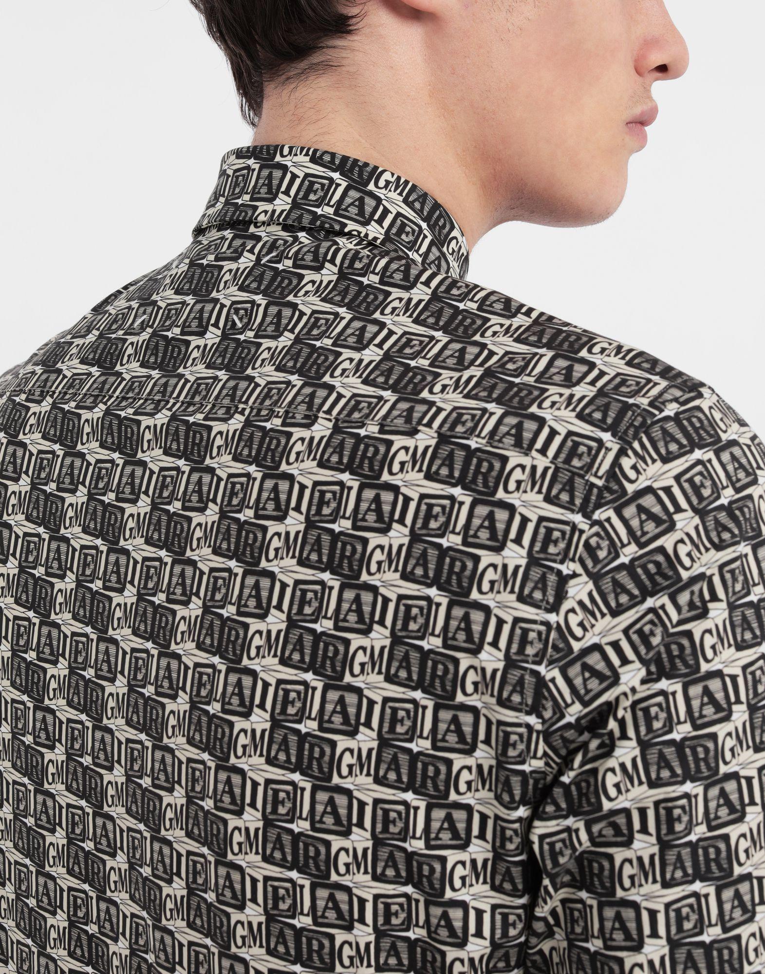 MAISON MARGIELA Cube logo printed shirt Long sleeve shirt Man b