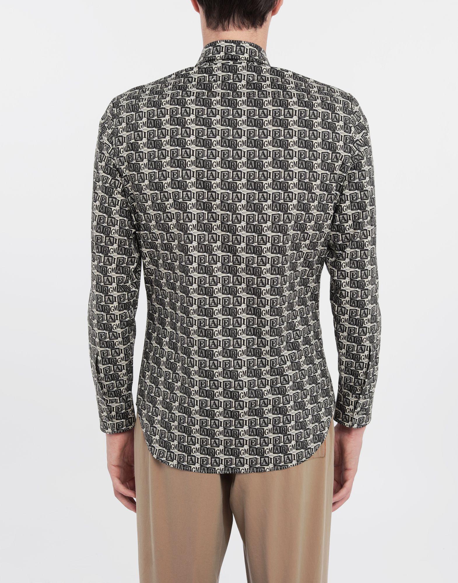 MAISON MARGIELA Cube logo printed shirt Long sleeve shirt Man e