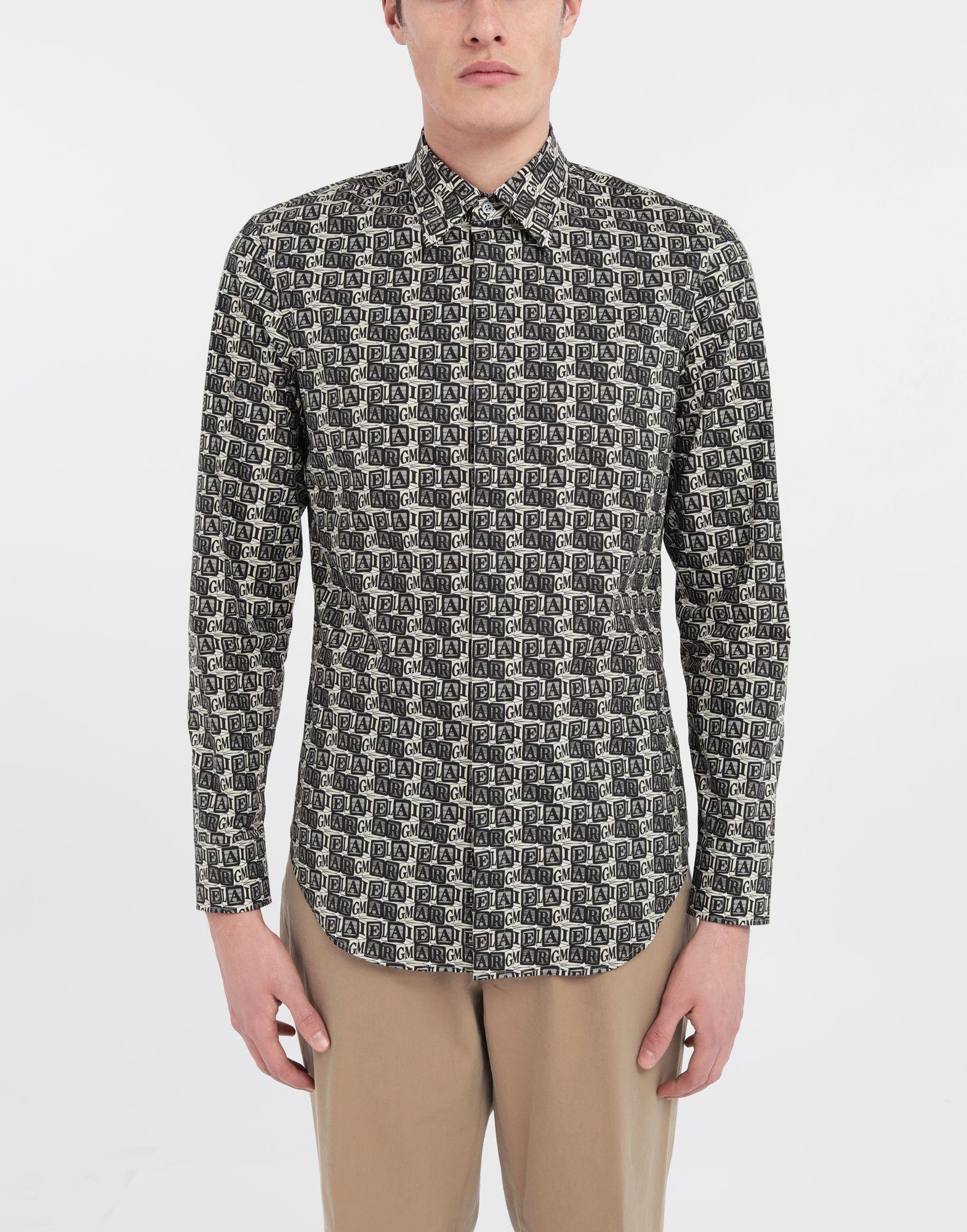 MAISON MARGIELA T-shirt avec imprimé logo Cube Chemise manches longues Homme r