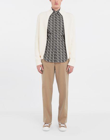 MAISON MARGIELA Cube logo printed shirt Long sleeve shirt Man d