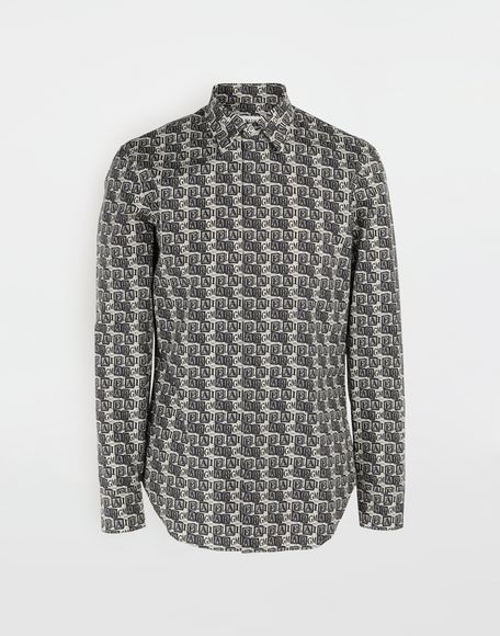 MAISON MARGIELA Cube logo printed shirt Long sleeve shirt Man f