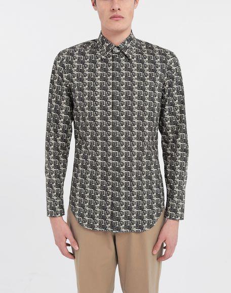 MAISON MARGIELA Cube logo printed shirt Long sleeve shirt Man r