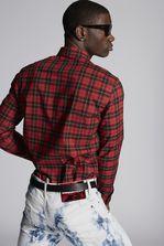 DSQUARED2 Check Cotton Relaxed Dan Botton Down Shirt Shirt Man