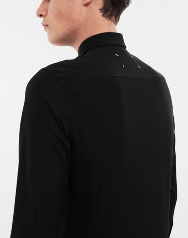 SHIRTS Cotton-poplin slim fit shirt Black