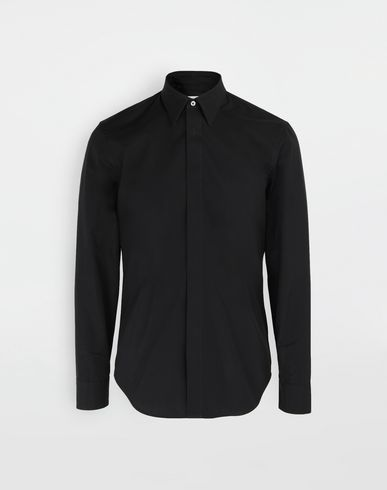 Cotton-poplin slim fit shirt
