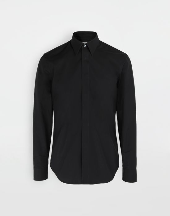 MAISON MARGIELA Cotton-poplin slim fit shirt Long sleeve shirt [*** pickupInStoreShippingNotGuaranteed_info ***] f