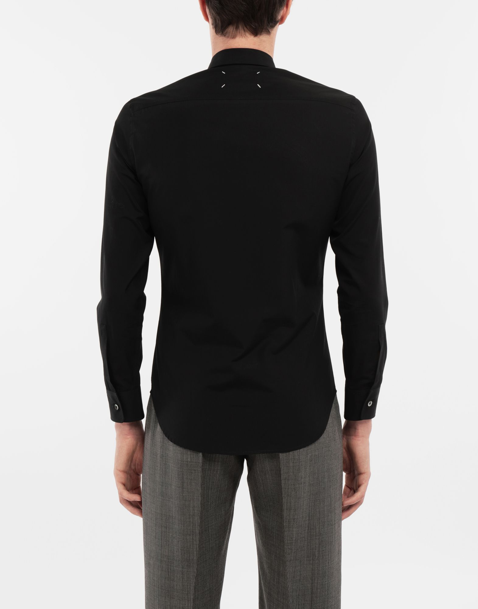 MAISON MARGIELA Cotton-poplin slim fit shirt Long sleeve shirt Man e