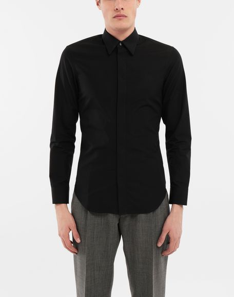 MAISON MARGIELA Cotton-poplin slim fit shirt Long sleeve shirt Man r
