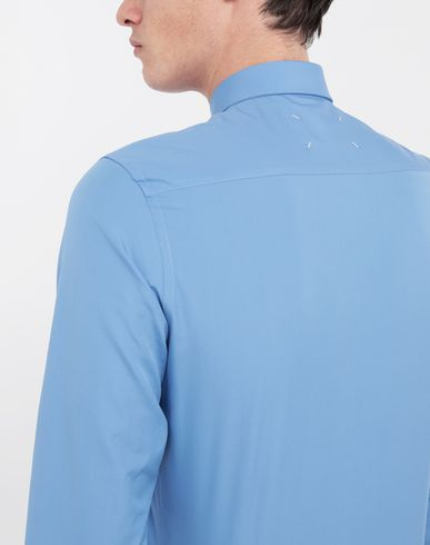 SHIRTS Cotton-poplin slim fit shirt Sky blue