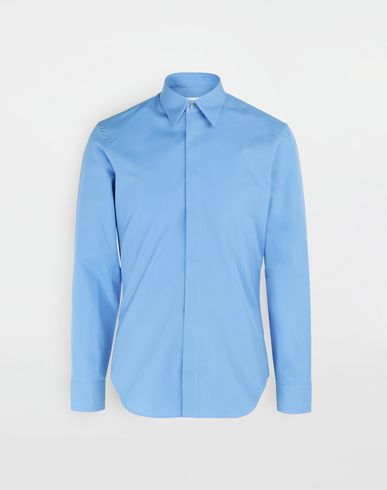 MAISON MARGIELA Cotton-poplin slim fit shirt Long sleeve shirt [*** pickupInStoreShippingNotGuaranteed_info ***] f