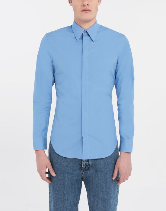 MAISON MARGIELA Cotton-poplin slim fit shirt Long sleeve shirt [*** pickupInStoreShippingNotGuaranteed_info ***] r