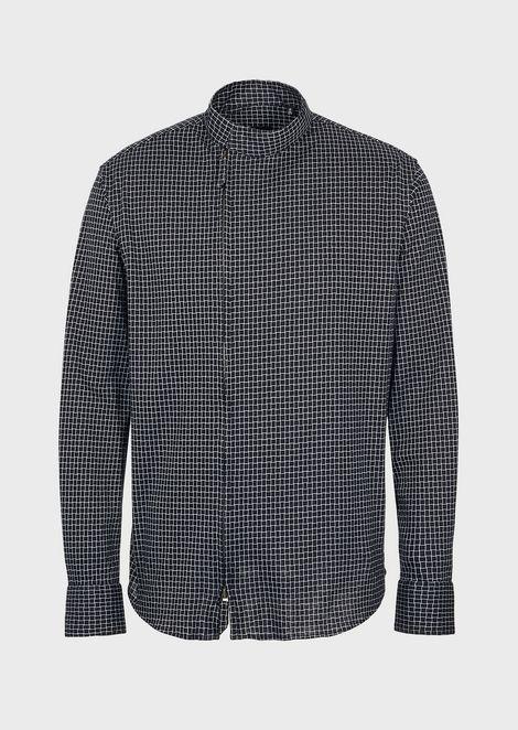 Рубашка облегающего кроя из эксклюзивного жаккардового джерси сузором