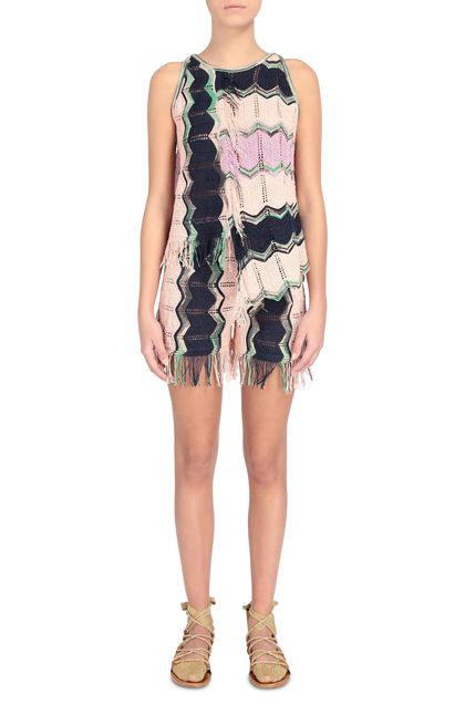 M MISSONI Vest Pink Woman - Back
