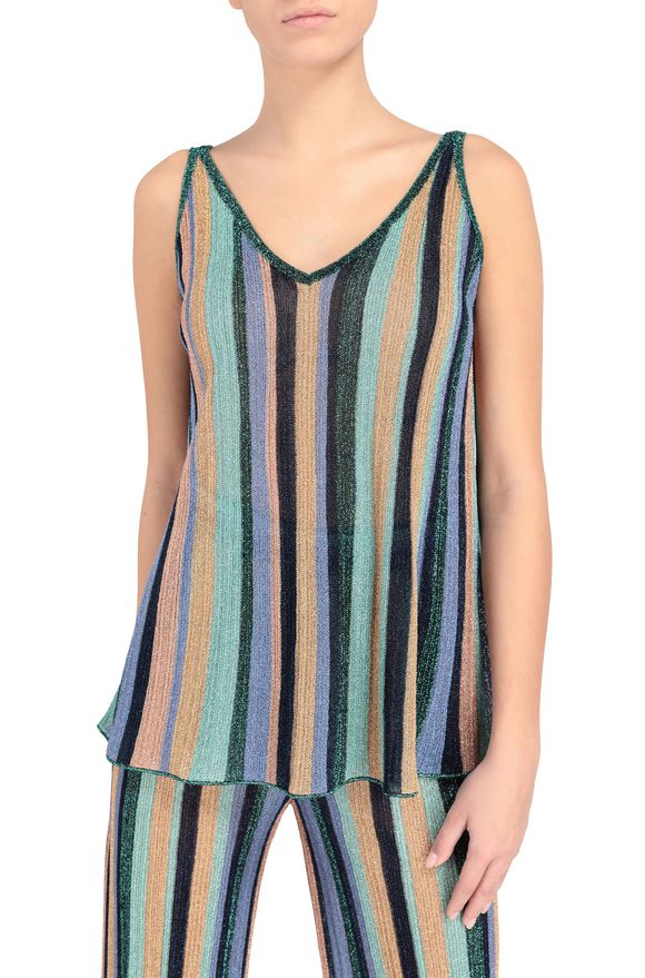 M MISSONI Tank Top Lila Damen