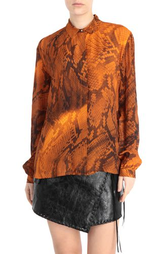 JUST CAVALLI Long sleeve shirt Woman Scarf-print blouse f