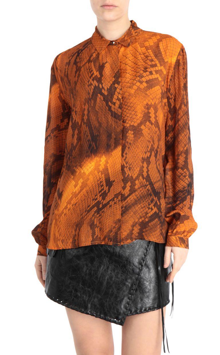JUST CAVALLI Python-print blouse Long sleeve shirt [*** pickupInStoreShipping_info ***] f