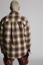 DSQUARED2 Check Cotton Dropped Shoulder Military Shirt Shirt Man