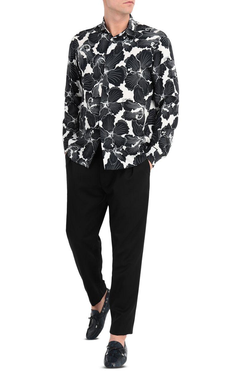 JUST CAVALLI Hibiscus-print shirt Long sleeve shirt Man d