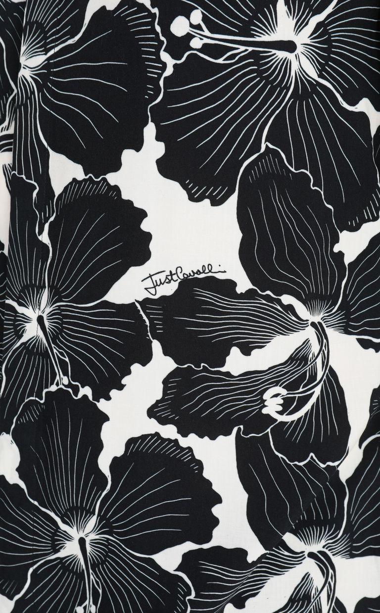 JUST CAVALLI Hibiscus-print shirt Long sleeve shirt Man e