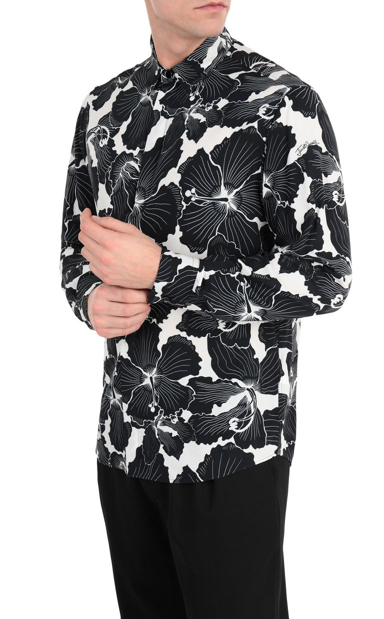 JUST CAVALLI Hibiscus-print shirt Long sleeve shirt Man f