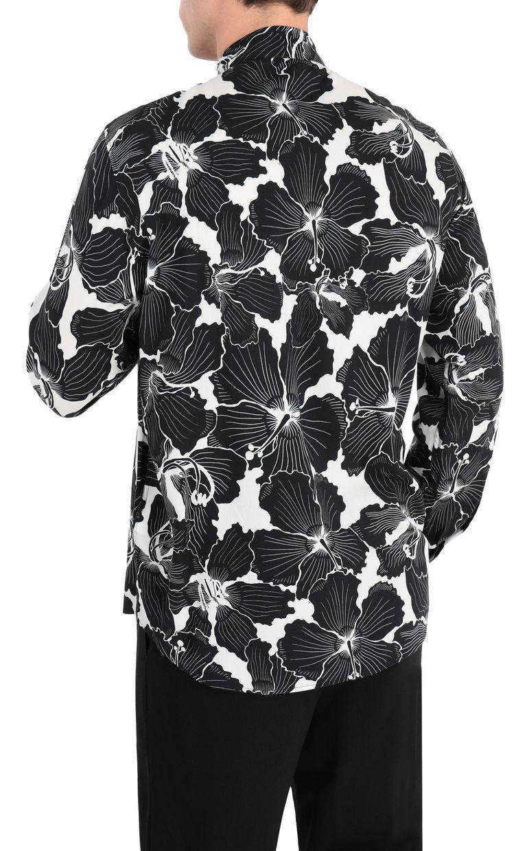 JUST CAVALLI Hibiscus-print shirt Long sleeve shirt Man r