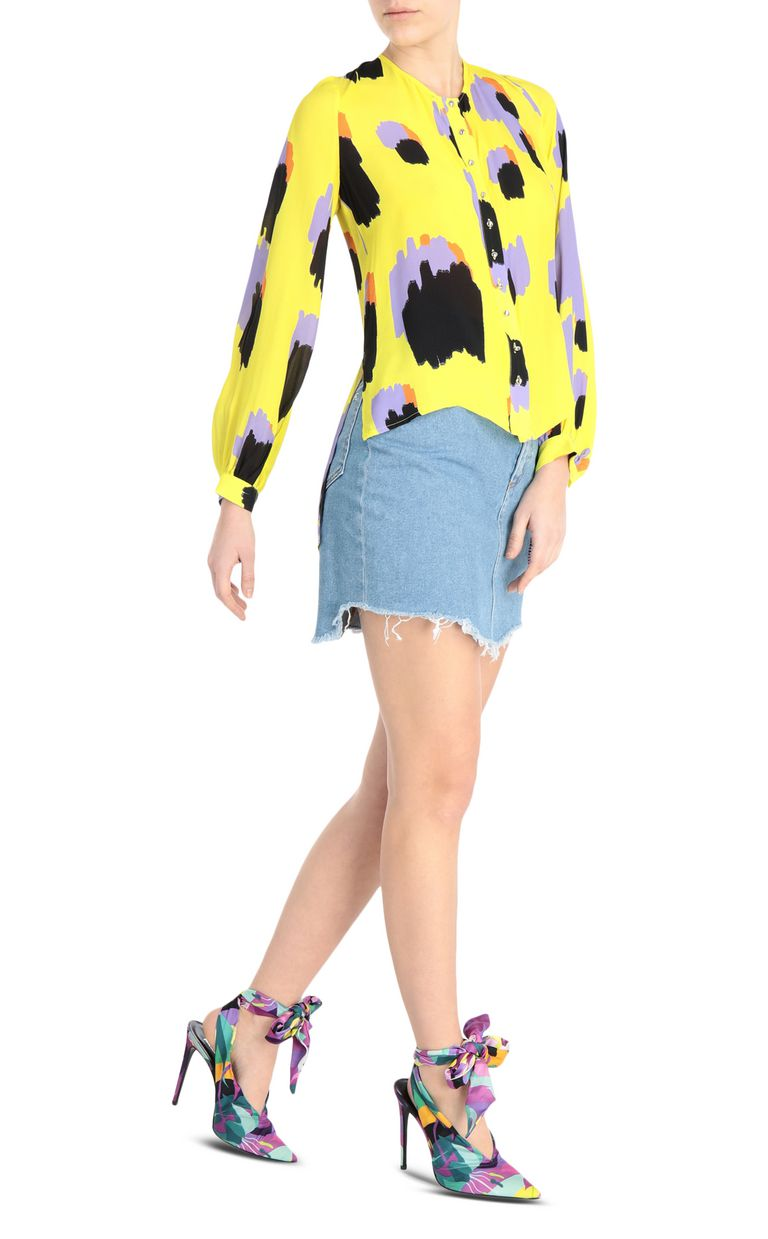 JUST CAVALLI Shirt with pencil-leopard print Long sleeve shirt Woman d