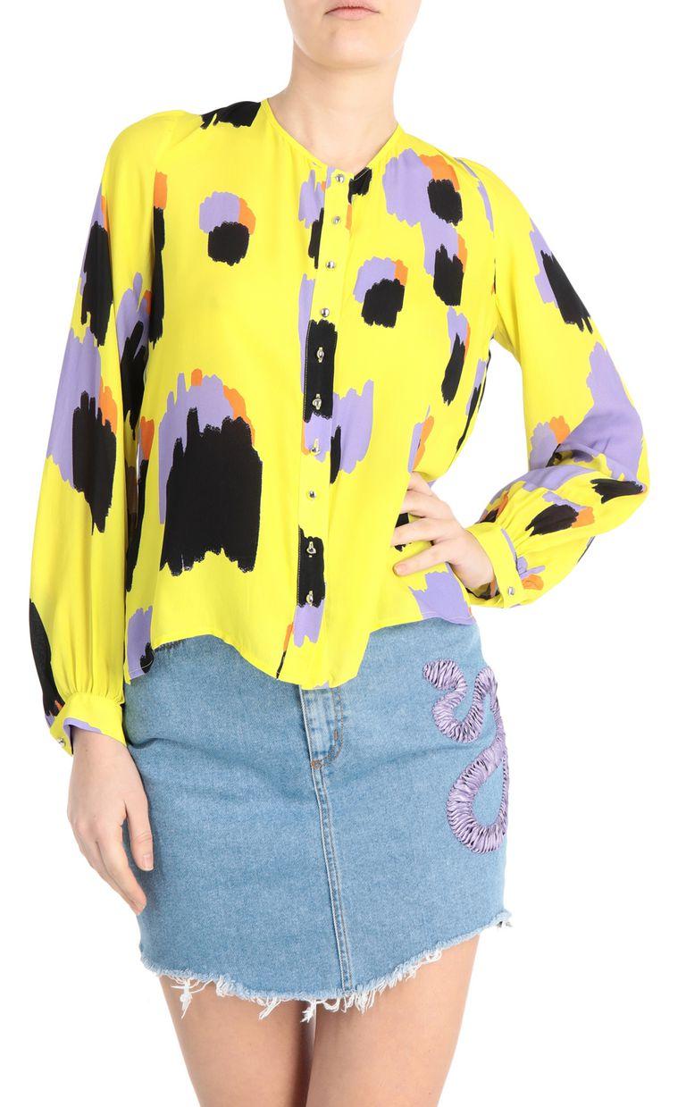 JUST CAVALLI Shirt with pencil-leopard print Long sleeve shirt Woman f