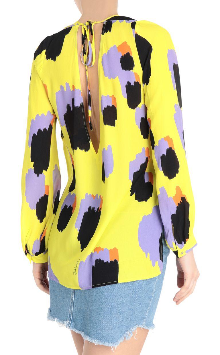 JUST CAVALLI Shirt with pencil-leopard print Long sleeve shirt Woman r