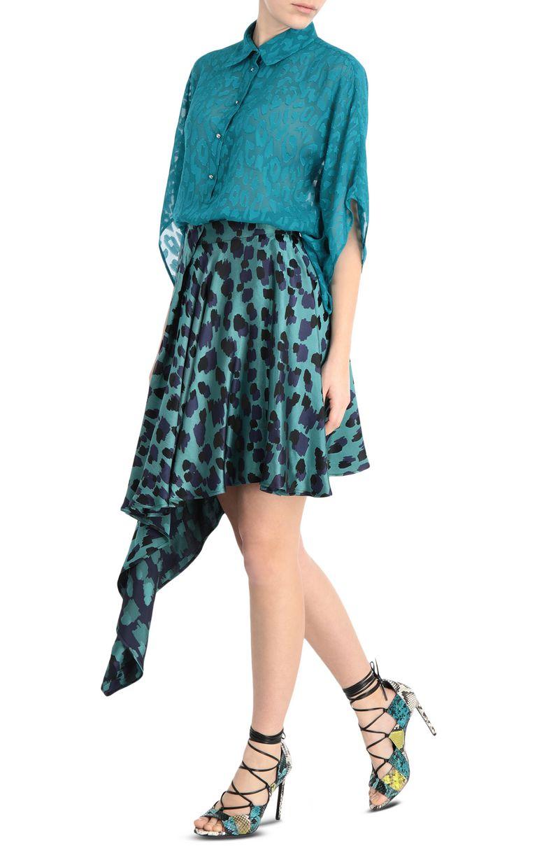 JUST CAVALLI Jacquard-leopard shirt Kaftan [*** pickupInStoreShipping_info ***] d