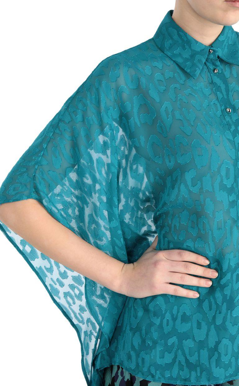 JUST CAVALLI Jacquard-leopard shirt Kaftan [*** pickupInStoreShipping_info ***] e