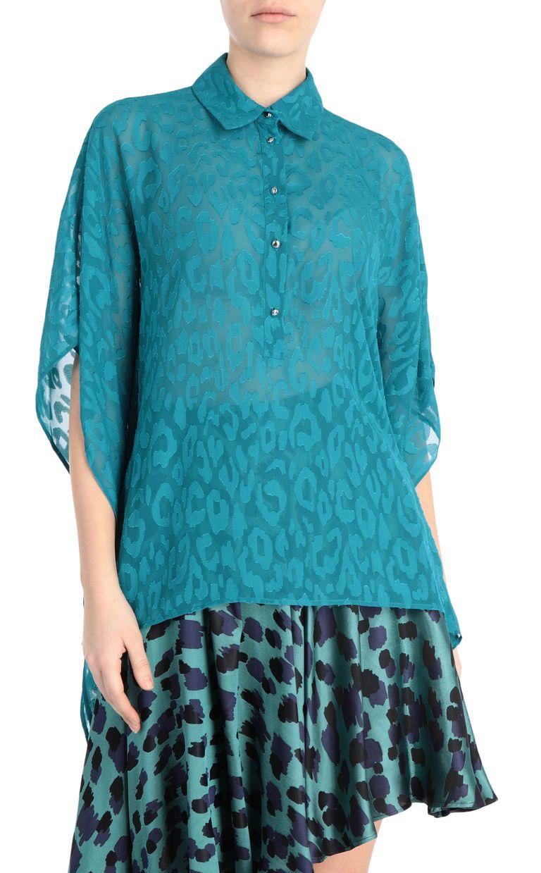 JUST CAVALLI Jacquard-leopard shirt Kaftan [*** pickupInStoreShipping_info ***] f