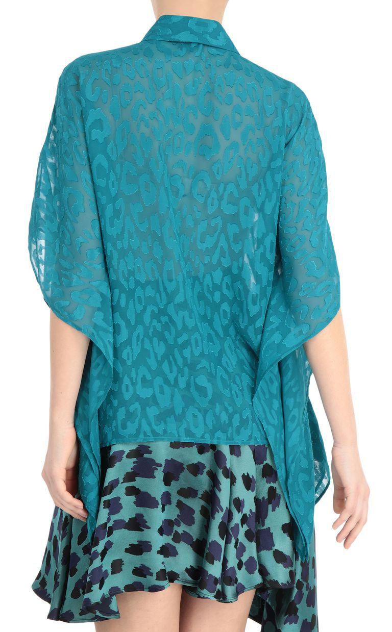 JUST CAVALLI Jacquard-leopard shirt Kaftan [*** pickupInStoreShipping_info ***] r