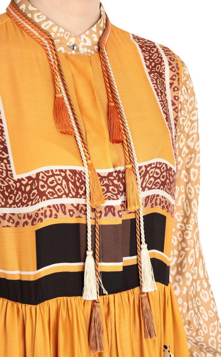 JUST CAVALLI Scarf-print blouse Long sleeve shirt Woman e