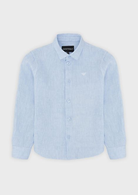 Pure cotton shirt with embroidered logo