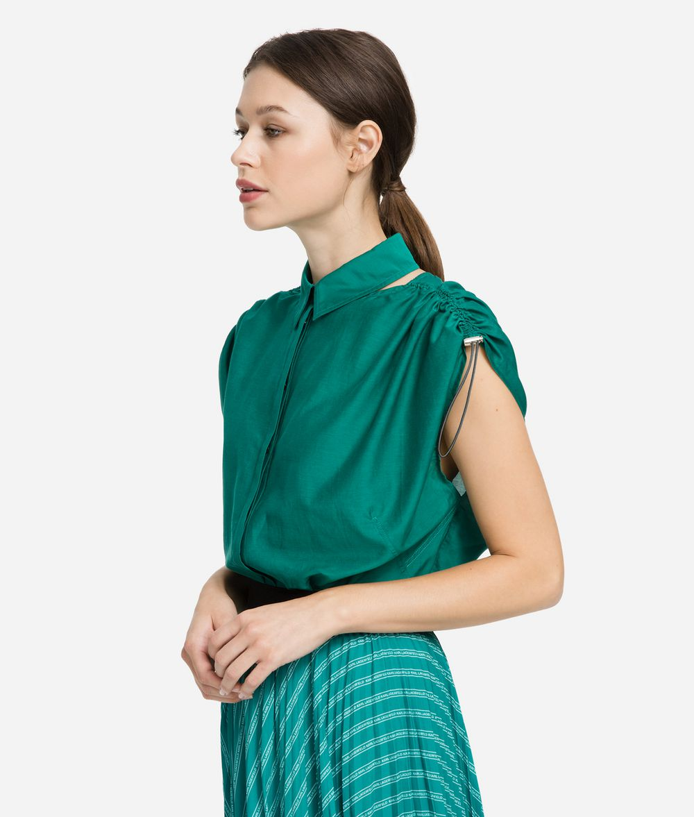 KARL LAGERFELD Logo Tape Shirt Blouse Woman d