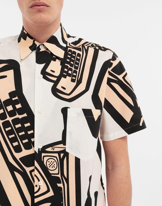 MAISON MARGIELA Chemise avec imprimé téléphone Short sleeve shirt [*** pickupInStoreShippingNotGuaranteed_info ***] a