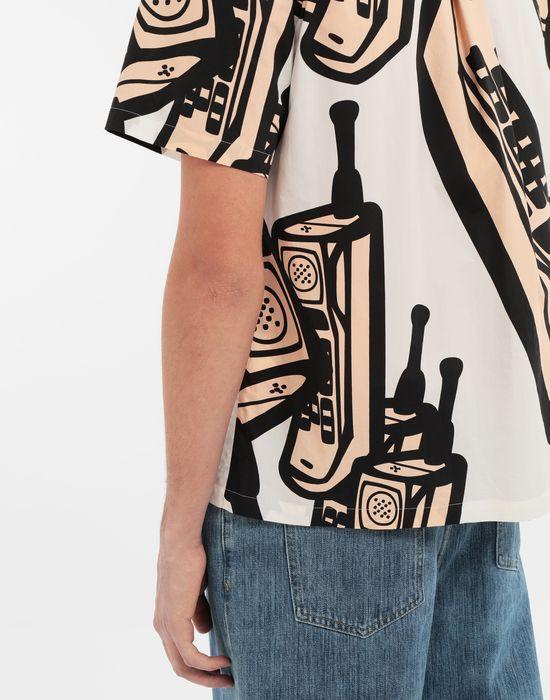 MAISON MARGIELA Chemise avec imprimé téléphone Short sleeve shirt [*** pickupInStoreShippingNotGuaranteed_info ***] b