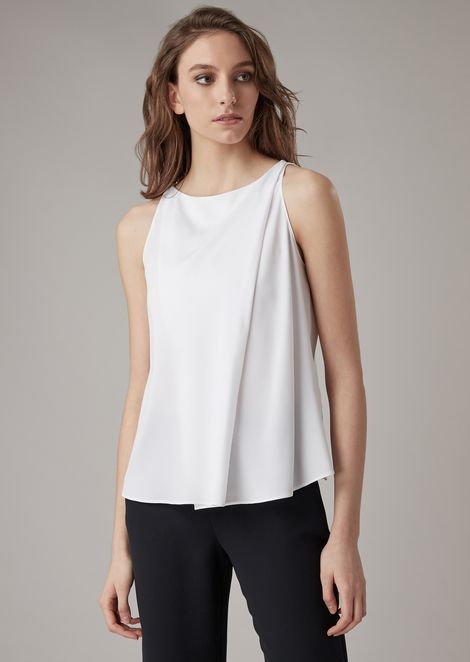 8a2a13eaaeb3 Draped silk charmeuse top