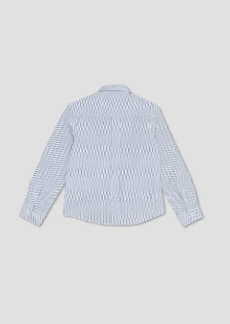 Polka-dot cotton poplin shirt